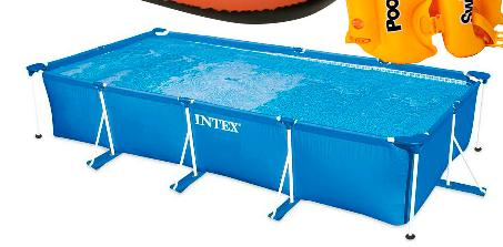 Albercas walmart inflable rectangular intex for Precios de albercas