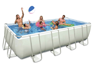 carrefour espa a piscina rectangular intex 594x274x132 cm