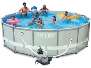 Carrefour espa a piscina redonda intex 488 x 122 cm for Alberca intex redonda
