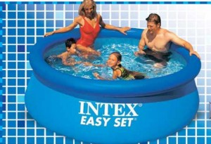 Alberca intex redonda inflable for Piscinas de plastico carrefour